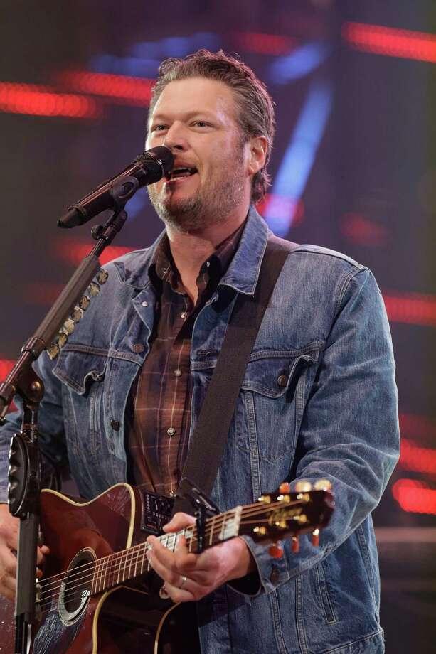Blake Shelton performs at RodeoHouston on March 19. Photo: Melissa Phillip, Houston Chronicle / © 2014  Houston Chronicle