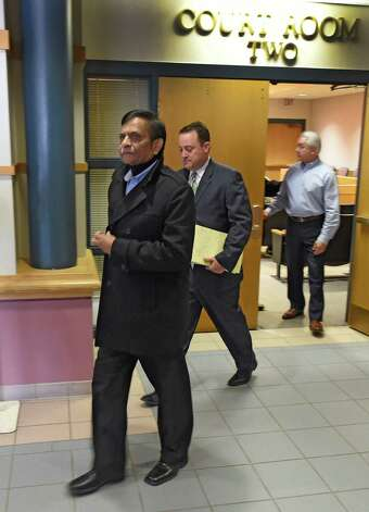 Alex Patel leaves Colonie Town Court after completing his plea deal Thursday morning March 19, 2015  in Colonie, N.Y.      (Skip Dickstein/Times Union) Photo: SKIP DICKSTEIN / 10031097A