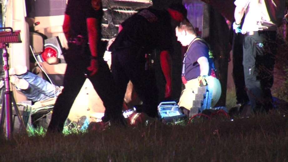 A man was critically injured Friday morning in a crash on the far North Side. Photo: 21 Pro Video