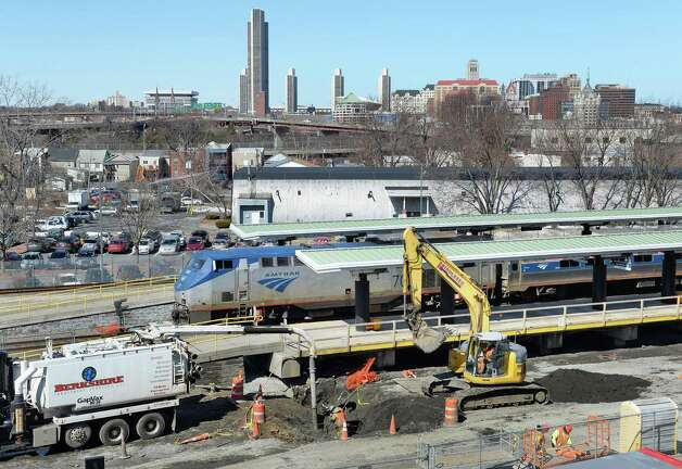 Construction work under way at the Rensselaer Rail Station Thursday March 19, 2015 in Rensselaer, NY.  (John Carl D'Annibale / Times Union) Photo: John Carl D'Annibale / 00030967A