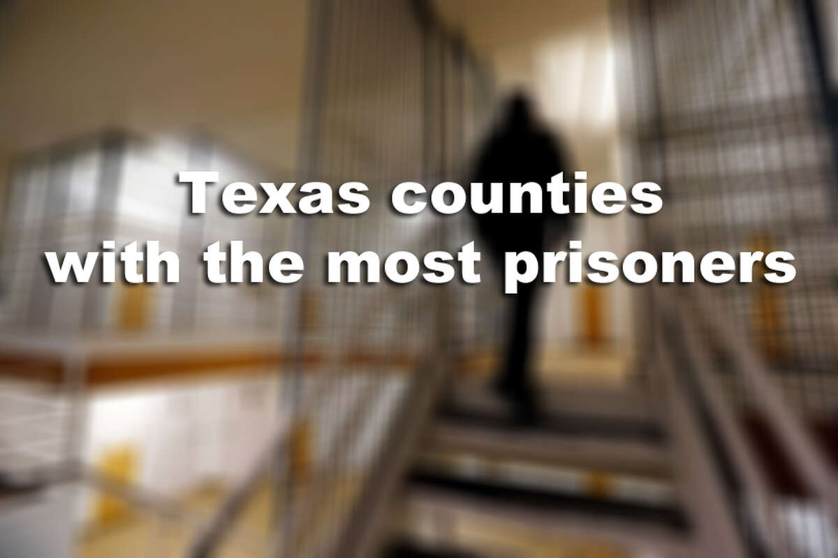 More prisoners are housed in these Texas counties than in any others.