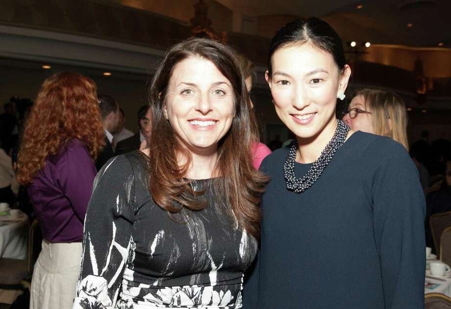 Heather Hahn Fowler and Reiko Kyogoku at the Bay Area Discovery Museum Creativity Forum fundraiser on March 12, 2015. Photo: Drew Altizer, Drew Altizer Photography