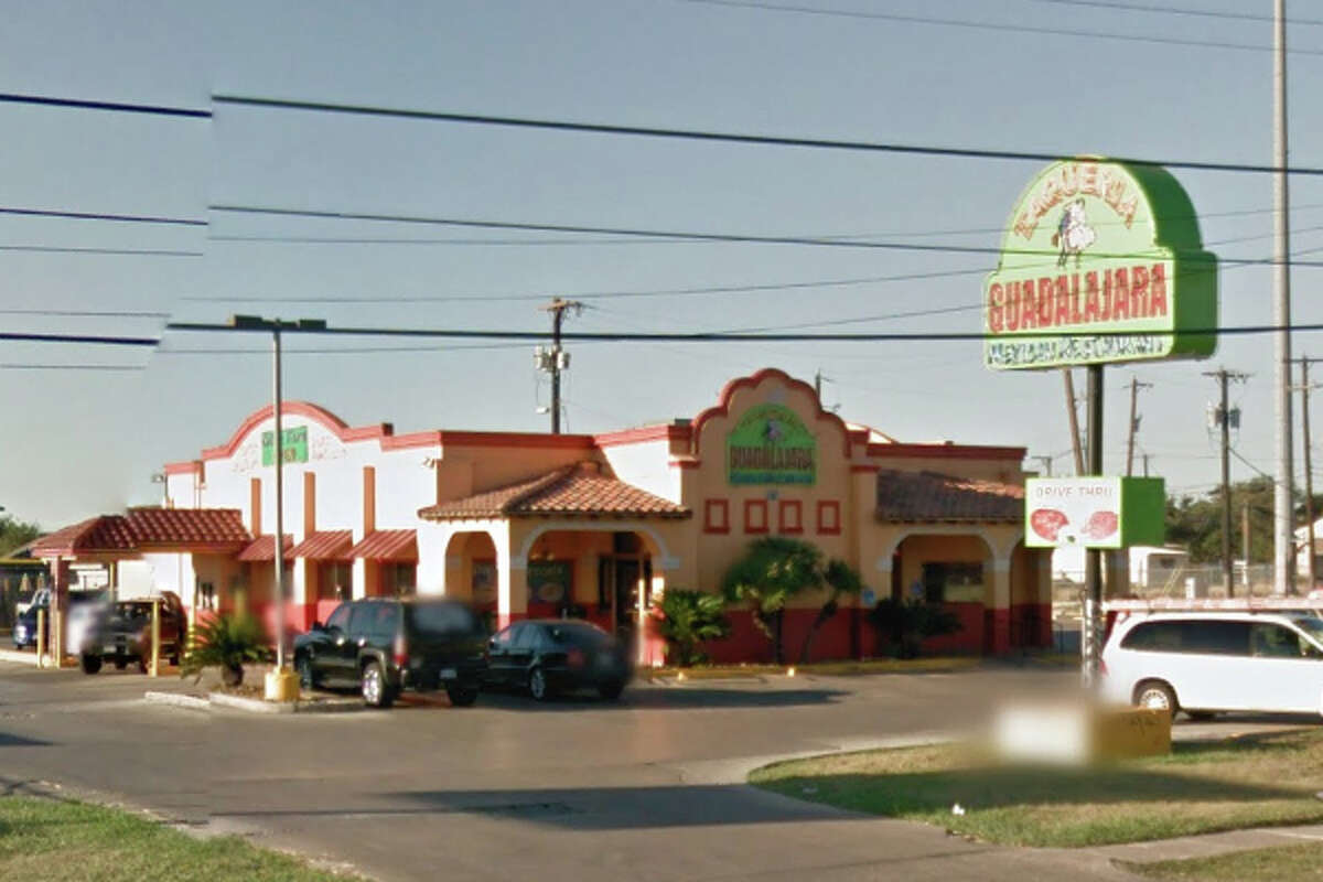Taqueria Guadalajara #: 5818 Culebra Road, San Antonio, Texas 78228Date: 05/19/2016 Score: 69Highlights: Gnats, flies and dead roaches seen in establishment, employees did not wash their hands properly when switching tasks, employee handled ready-to-eat foods with bare hands, raw meats, pico de gallo and cheeses not held at proper hot hold temperature, food not protected from cross contamination (raw shrimp and raw shelled eggs stored above ready-to-eat foods)