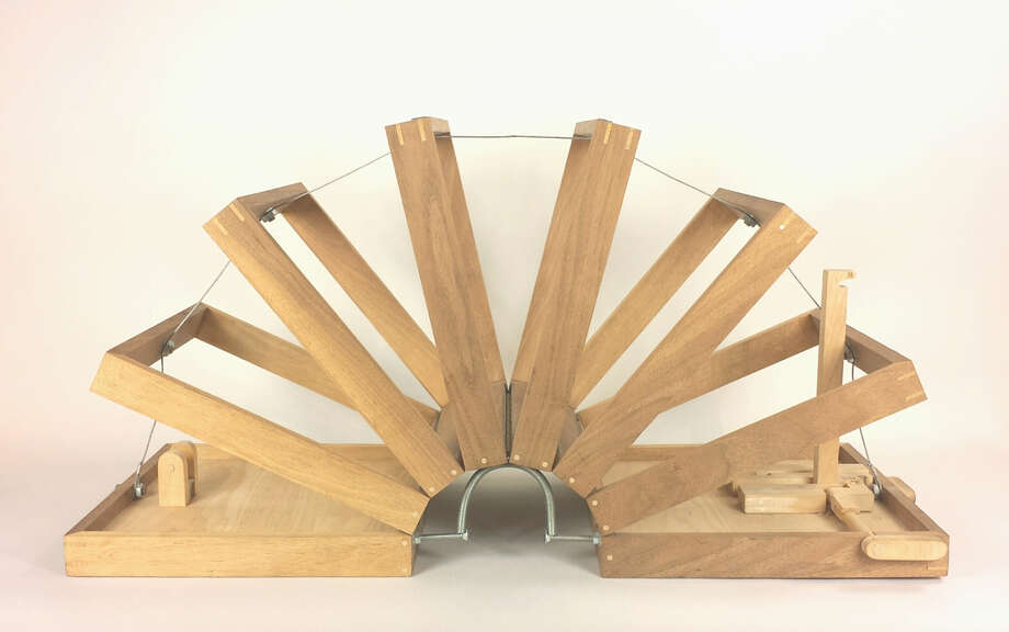"""Patrick Renner's """"Unfolding Box,"""" made of walnut and poplar, is among works on view in """"Cabinet of Curiosities"""" at Gallery Jatad through April 25. Photo: Gallery Jatad"""