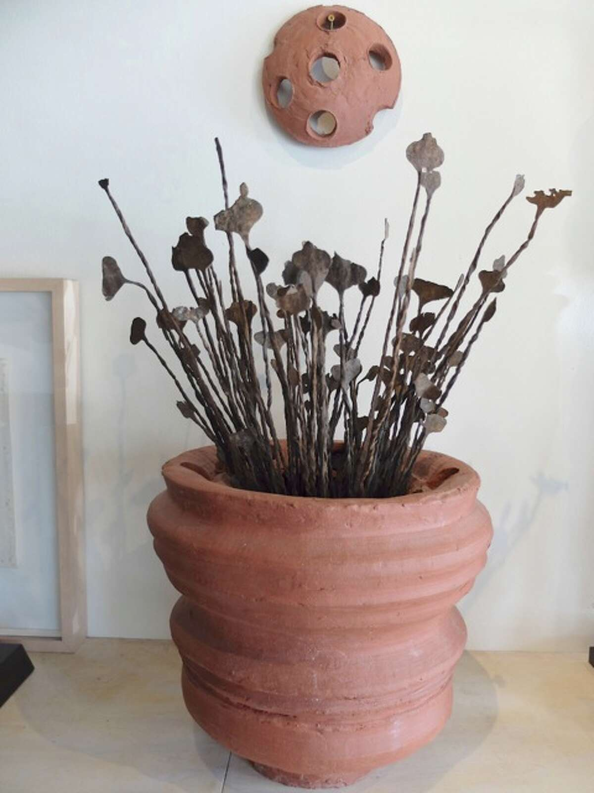 """A pot by Patrick Renner is among works on view in """"Cabinet of Curiosities"""" at Gallery Jatad through April 25."""