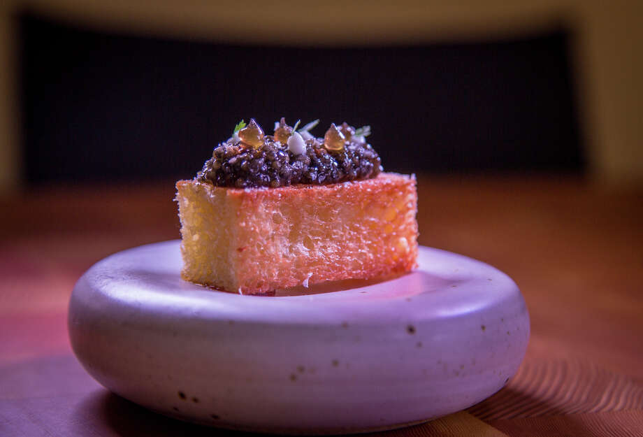 Caviar with smoked brioche at Mourad. Photo: John Storey / Special To The Chronicle / ONLINE_YES