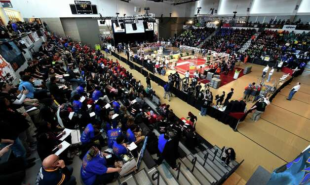 A large crowd was in attendance for the FIRST Robotics Competition Friday morning March 20, 2015,  at Rensselaer Polytechnic Institute in Troy, N.Y.        (Skip Dickstein/Times Union) Photo: SKIP DICKSTEIN / 00031036A