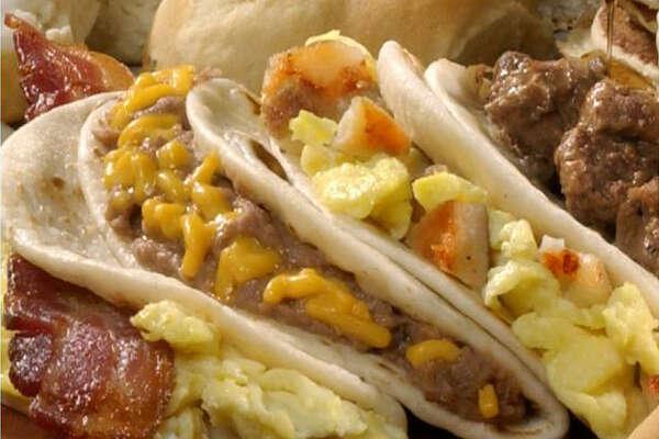 Breakfast tacos from Bill Miller Bar-B-Q.