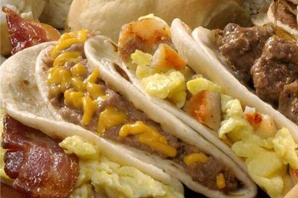 Breakfast tacos from Bill Miller Bar-B-Q.