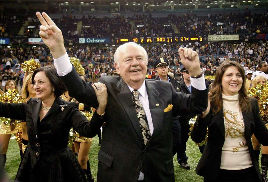 Gayle Benson (left), Tom Benson and Rita Benson-LeBlanc celebrate a Saints' win over the New York Giants in 2009. Photo: New Orleans Times-Picayune File Photo