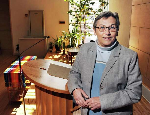 Dawn Dana in the Emmerson Community Hall at the Unitarian Universalist Society on Washington Avenue Wednesday March 18, 2015 in Albany, NY. (John Carl D'Annibale / Times Union) Photo: John Carl D'Annibale / 00031080A