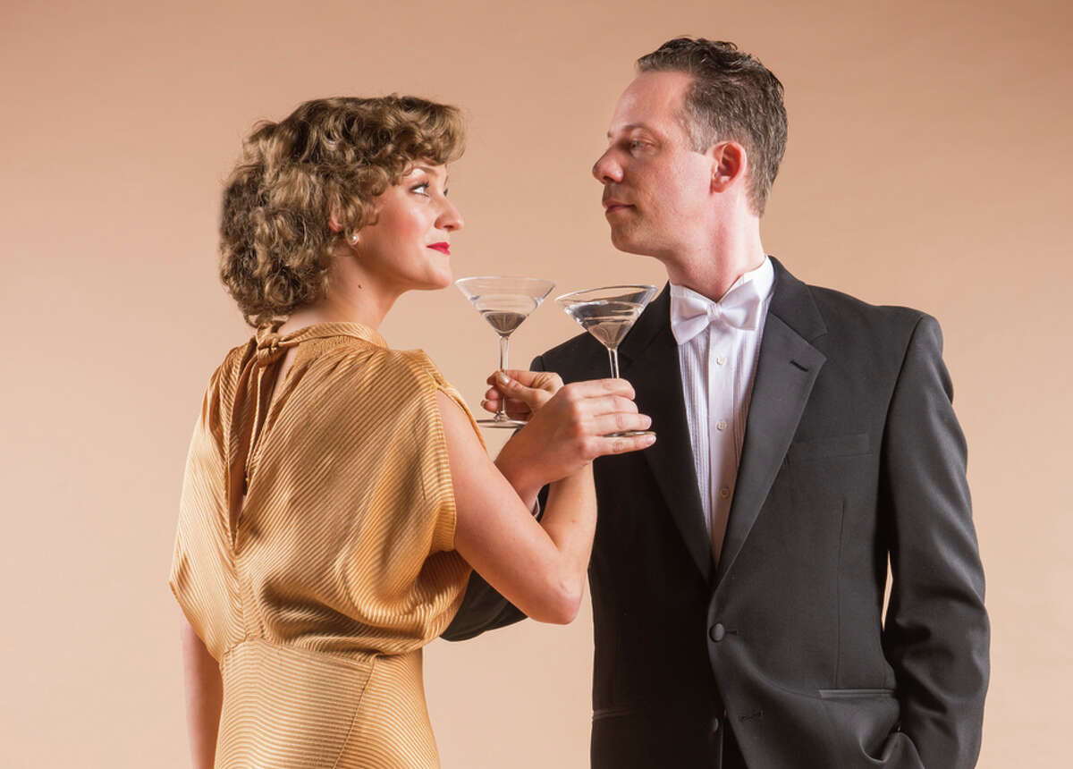 """Ryan Drummond (right) and Brittany Danielle as Nick and Nora Charles in 42nd Street Moon's revival of the musical """"Nick & Nora."""""""
