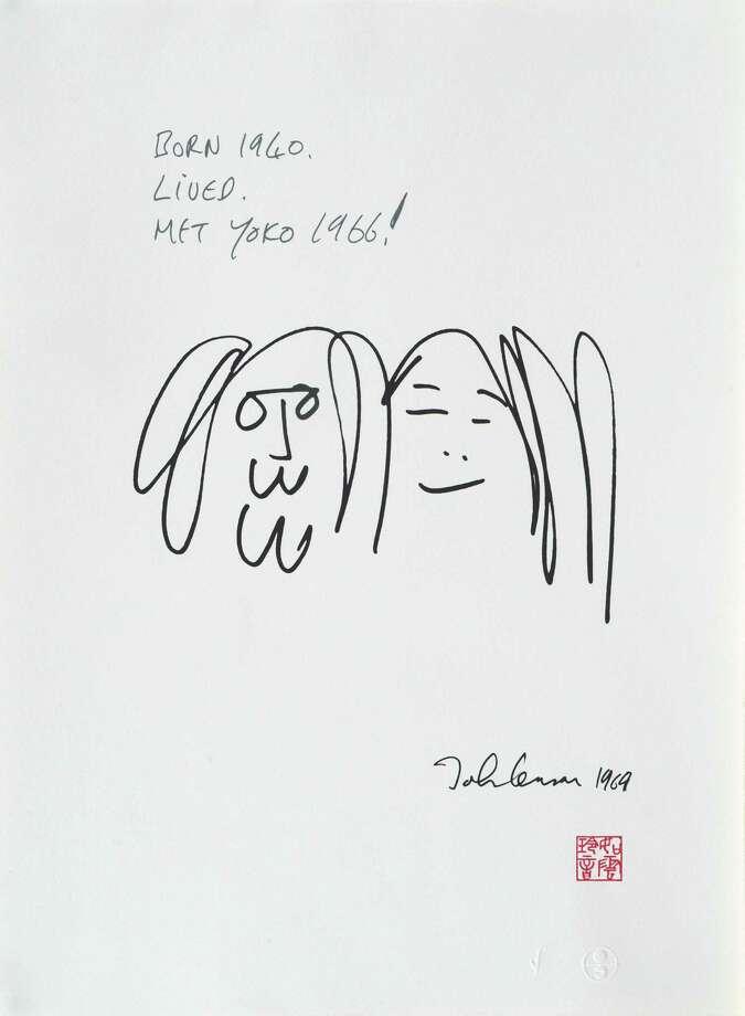 """""""Forever Love"""" by John Lennon Photo: John Lennon / ©Yoko Ono.  All Rights Reserved."""