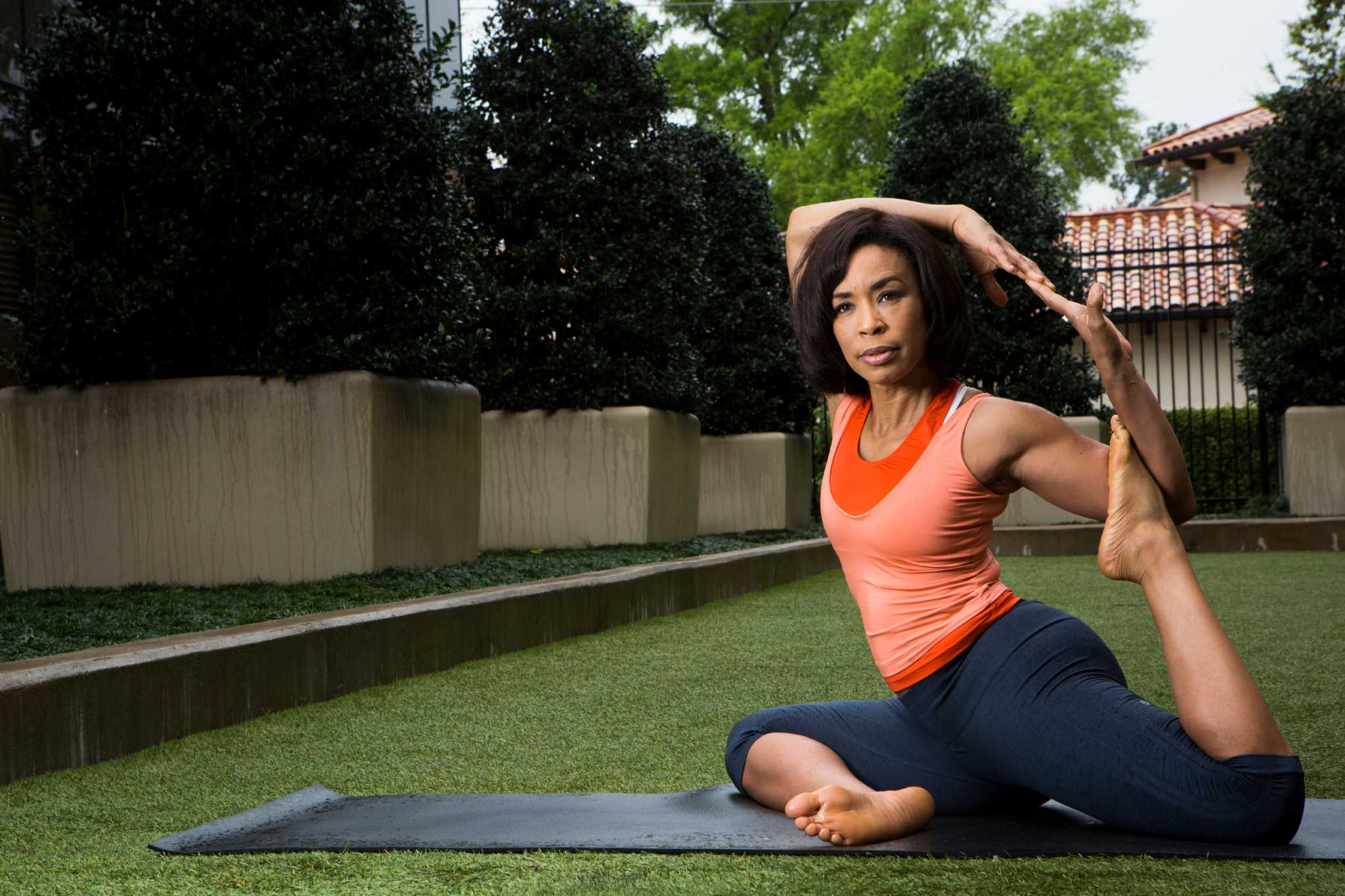 Yoga Helps Anchorwoman Gina Gaston Stay Focused With Busy
