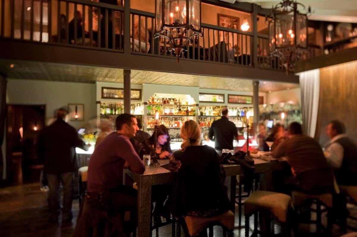 The bar at Restaurant 1833 in Monterey.