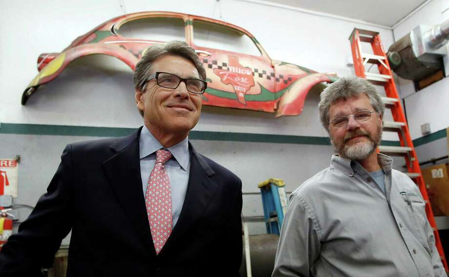 Former Texas Gov. Rick Perry was in New Hampshire recently touting his reputation as the Great Compromiser. Texans are still laughing. Photo: Jim Cole /Associated Press / AP