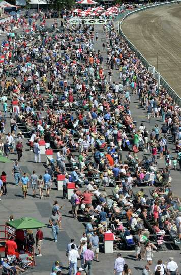 Another large crowd was on hand Saturday afternoon, Aug. 30, 2014 at the Saratoga Race Course in Sar