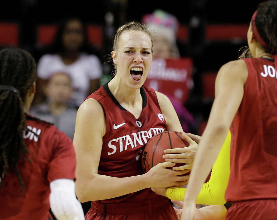 At the end of her fourth season at Stanford, something clicked for Taylor Greenfield in the Pac-12 tournament. Photo: Elaine Thompson / Associated Press / AP