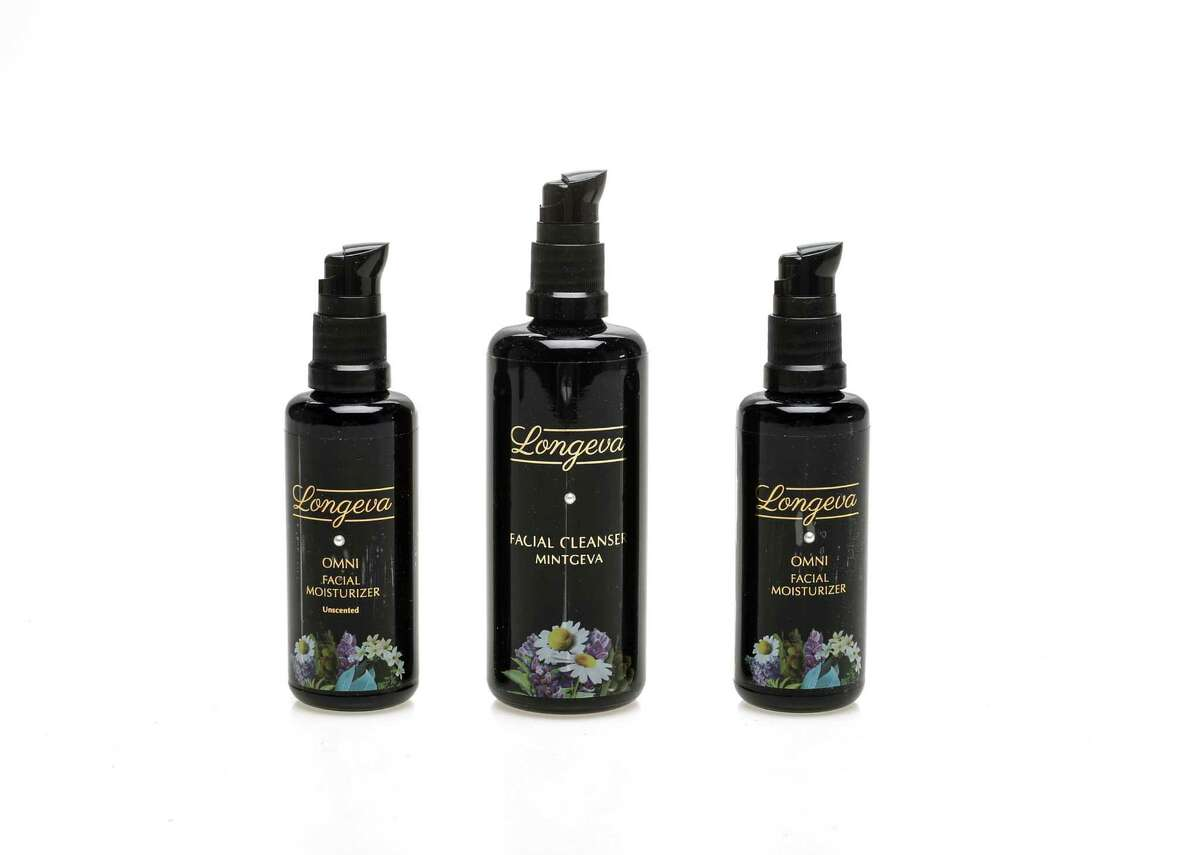Natural body care products from Longeva include the Omni Facial Moisturizer (unscented), Facial Cleanser Mintgiva and Omni Facial Moisturizer.