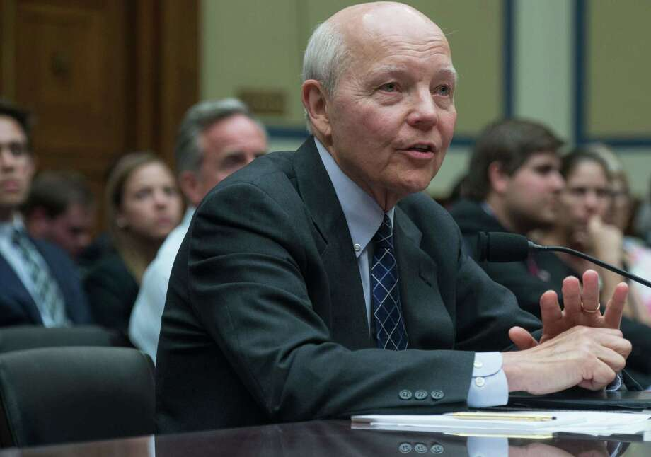 "Internal Revenue Service (IRS) Commissioner John Koskinen appears before a House Oversight and Government Reform Committee hearing on ""IRS Obstruction: Lois Lerner's Missing E-Mails, Part I"" on Capitol Hill in Washington on June 23, 2014. The hearing focused on the missing e-mails from the hard drive of former director of the IRS's Exempt Organizations Division Lois Lerner.   AFP PHOTO/Nicholas KAMMNICHOLAS KAMM/AFP/Getty Images Photo: NICHOLAS KAMM, Staff / Nicholas Kamm/AFP"