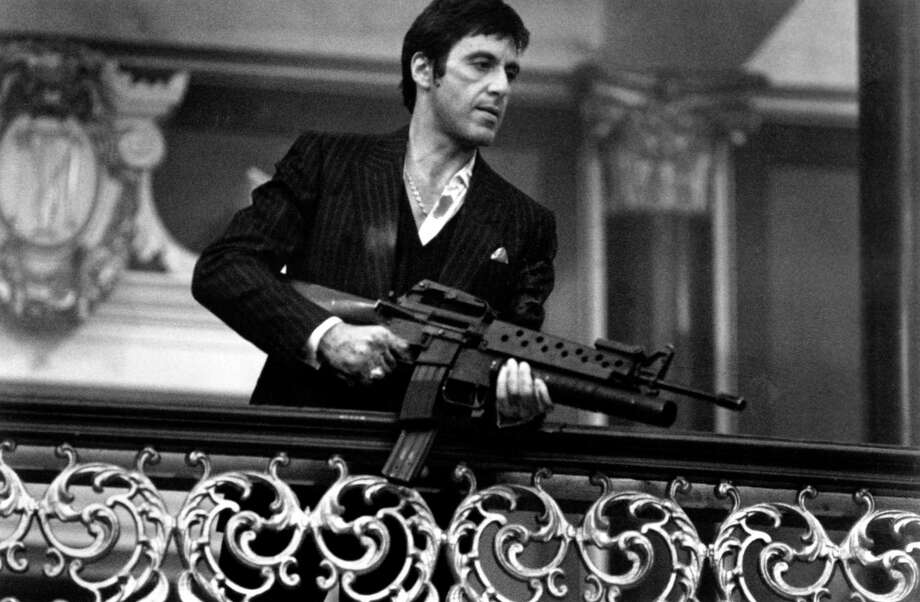 1983:  Actor Al Pacino stars in 'Scarface'. Photo: Michael Ochs Archives, Getty Images / Moviepix