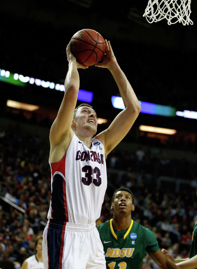 Gonzaga's Kyle Wiltjer, who had 23 points, puts up a shot in the first half. Photo: Ezra Shaw / Getty Images / 2015 Getty Images