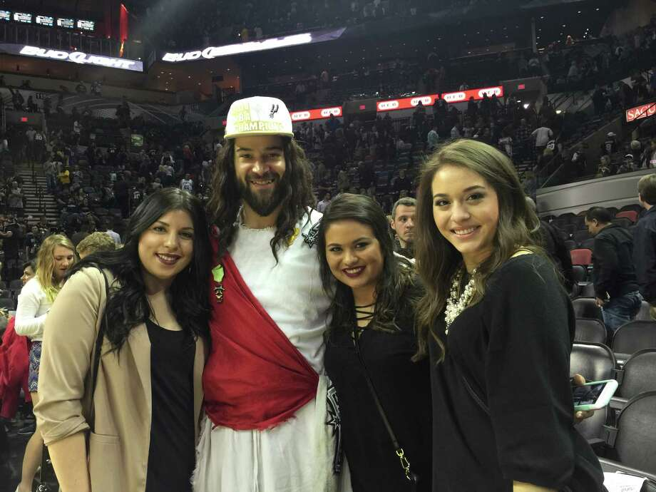 Look who showed up Friday night at the AT&T center as the Spurs took down the Boston Celtics, none other than S.A.'s own Spurs Jesus. Check out the fans and sights as seen by the silver and black's own sacred superfan. Photo: By Spurs Jesus, For MySA.com