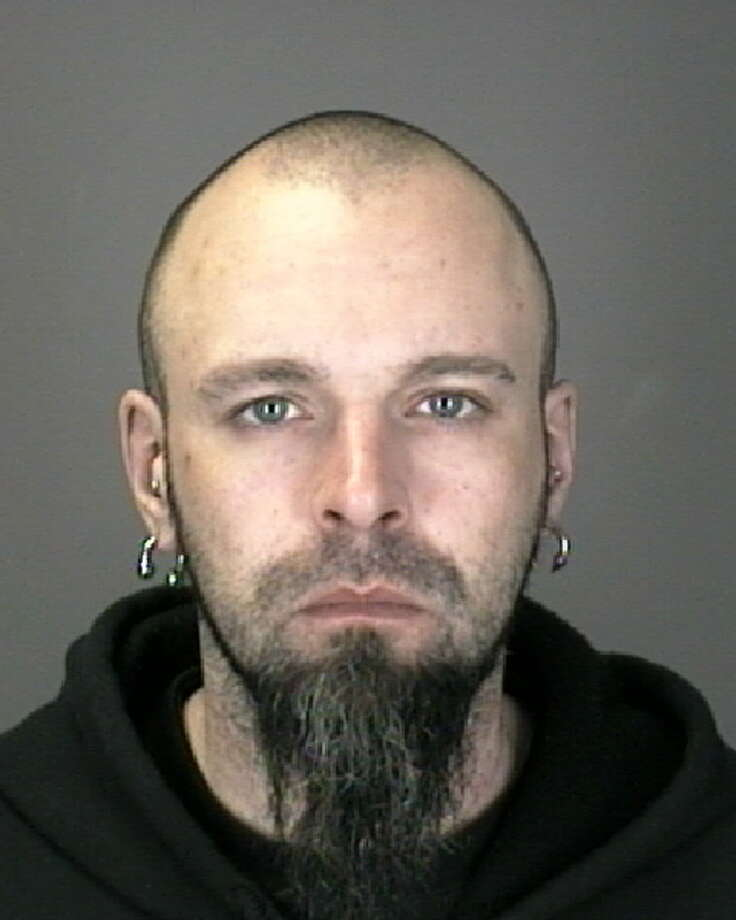 Michael C. Matzen, 34, and homeless, is accused of bank robbery. (Colonie police photo)