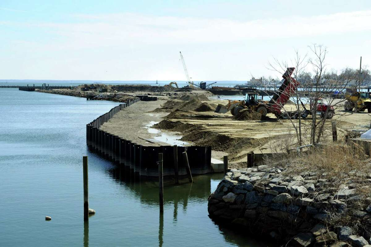 The 14-acre peninsula in the South End in Stamford, Conn. where developer Building and Land Technology is seeking approval to build a headquarters building for hedge fund Bridgewater Associates on Friday March 21, 2014.