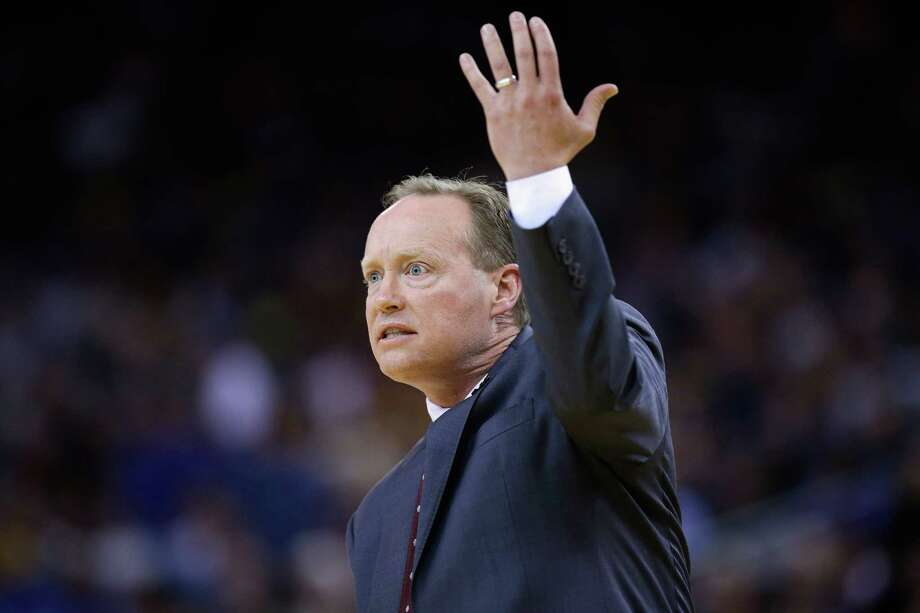OAKLAND, CA - MARCH 18:  Head coach Mike Budenholzer of the Atlanta Hawks complains about a call during their game against the Golden State Warriors at ORACLE Arena on March 18, 2015 in Oakland, California. NOTE TO USER: User expressly acknowledges and agrees that, by downloading and or using this photograph, User is consenting to the terms and conditions of the Getty Images License Agreement.  (Photo by Ezra Shaw/Getty Images) Photo: Ezra Shaw, Staff / Getty Images / 2015 Getty Images