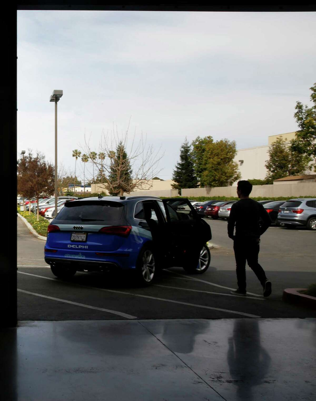 Delphi Lab @Silicon Valley in Mountain View, California show the car being sent on a driverless cross-country road trip on Friday, March 20, 2015.