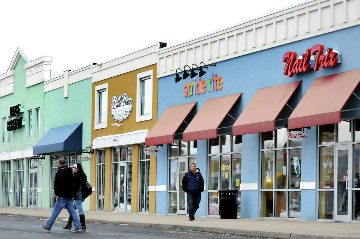 Boutiques line the mall's exterior on Wednesday, March 4, 2015, at Clifton Park Center in Clifton Park, N.Y. (Cindy Schultz / Times Union)