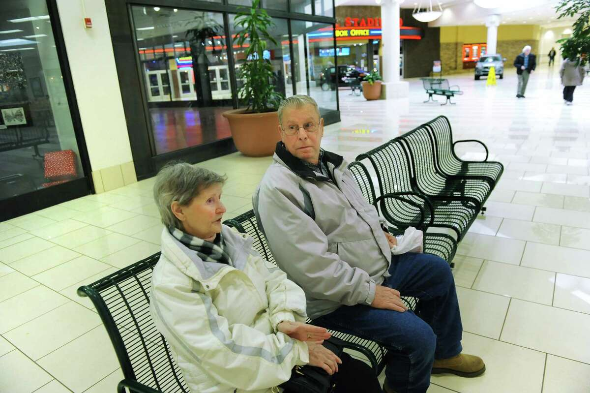 Elizabeth and James Fontaine talk about how the mall has changed on Wednesday, March 4, 2015, at Clifton Park Center in Clifton Park, N.Y. (Cindy Schultz / Times Union)