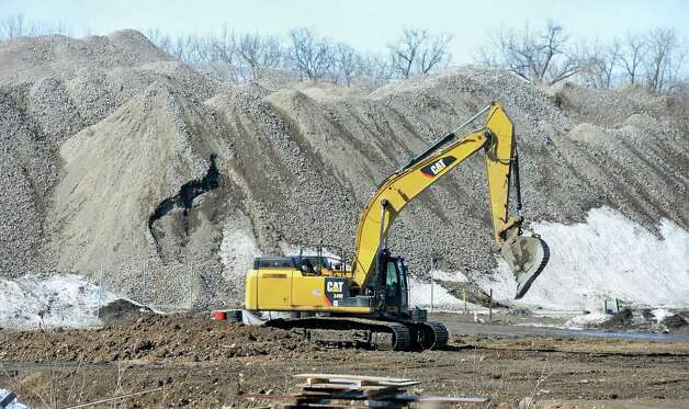 Heavy equipment at the future casino site Thursday March 12, 2015 in Schenectady, NY.  (John Carl D'Annibale / Times Union) Photo: John Carl D'Annibale / 00030980A