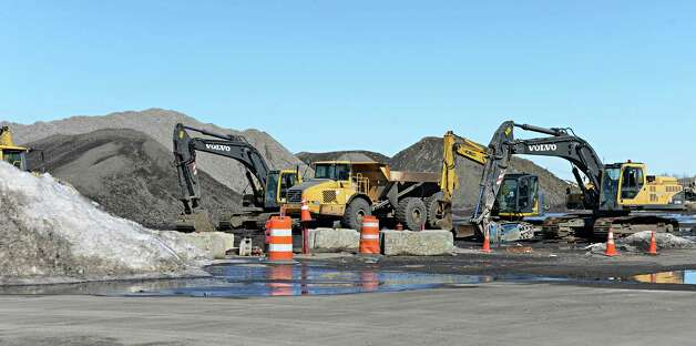 Heavy equipment at the future casino site Thursday March 12, 2015 in Schenectady, NY.  Most of the 53-plus acres was declared tax exempt in 2010 and a payment in lieu of taxes has been reapproved every year since then. (John Carl D'Annibale / Times Union) Photo: John Carl D'Annibale / 00030980A