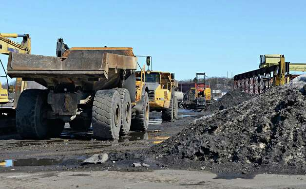 Heavy equipment at the future casino site Thursday March 12, 2015 in Schenectady, NY. The 53-plus acre property was bought for $500,000, plus $1.2 million to settle back taxes. Meanwhile, the property was assessed for $11.3 million. (John Carl D'Annibale / Times Union) Photo: John Carl D'Annibale / 00030980A