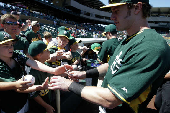 Mark Canha, a former Cal player who can play first base and the outfield, could crack the A's Opening Day roster.