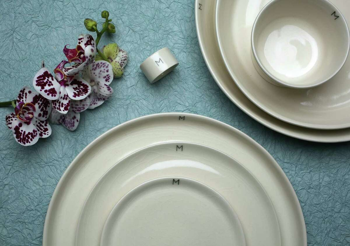 March introduces an exclusive line of made-to-order monogram dinnerware.