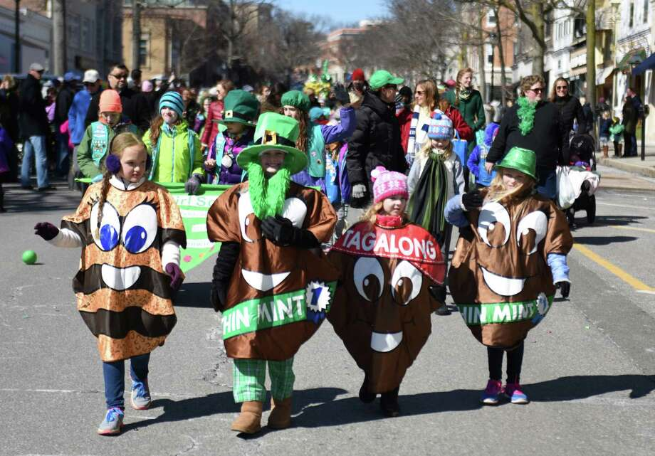 Photos from the annual St. Patrick's Day Parade in Greenwich, Conn. Sunday, March 22, 2015.  Running from Town Hall down Greenwich Avenue, the parade featured bands, entertainers, public officials, organizations and local fire and police departments. Photo: Tyler Sizemore / Greenwich Time