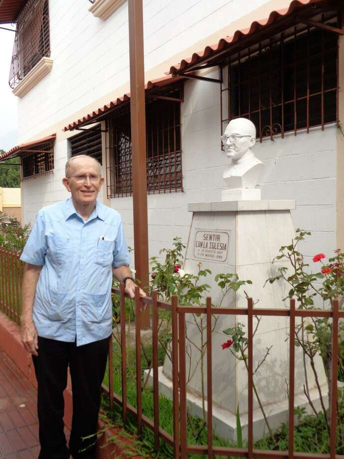 The Rev.John Spain, a Troy native, is a Maryknoll priest who has served in El Salvador beginning in 1971. He knew martyred Salvadoran Archbishop  Oscar Romero, who was assassinated on March 24, 1980. Romero will be beatified on May 23, the final step before sainthood. (Photo courtesy of the Rev. John Spain)