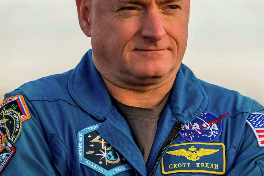 NASA Expedition 41 backup crew member Flight Engineer Scott Kelly watches rollout in preparation for the launch of Expedition 41 on Tuesday, Sept. 23, 2014, in Baikonur, Kazakhstan. ( Smiley N. Pool / Houston Chronicle ) Photo: Smiley N. Pool, Staff / © 2014  Houston Chronicle