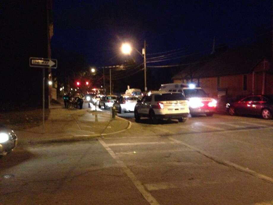 Albany police were on the scene of a disturbance Sunday night on Lark Street. (Matthew Hamilton / Times Union)