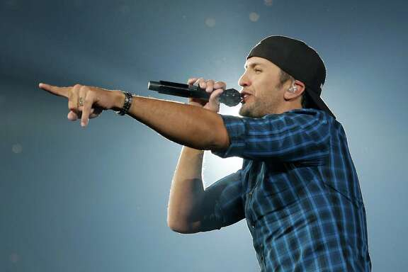 Luke Bryan performs during RodeoHouston at the Houston Livestock Show and Rodeo in NRG Stadium Sunday, March 22, 2015, in Houston.