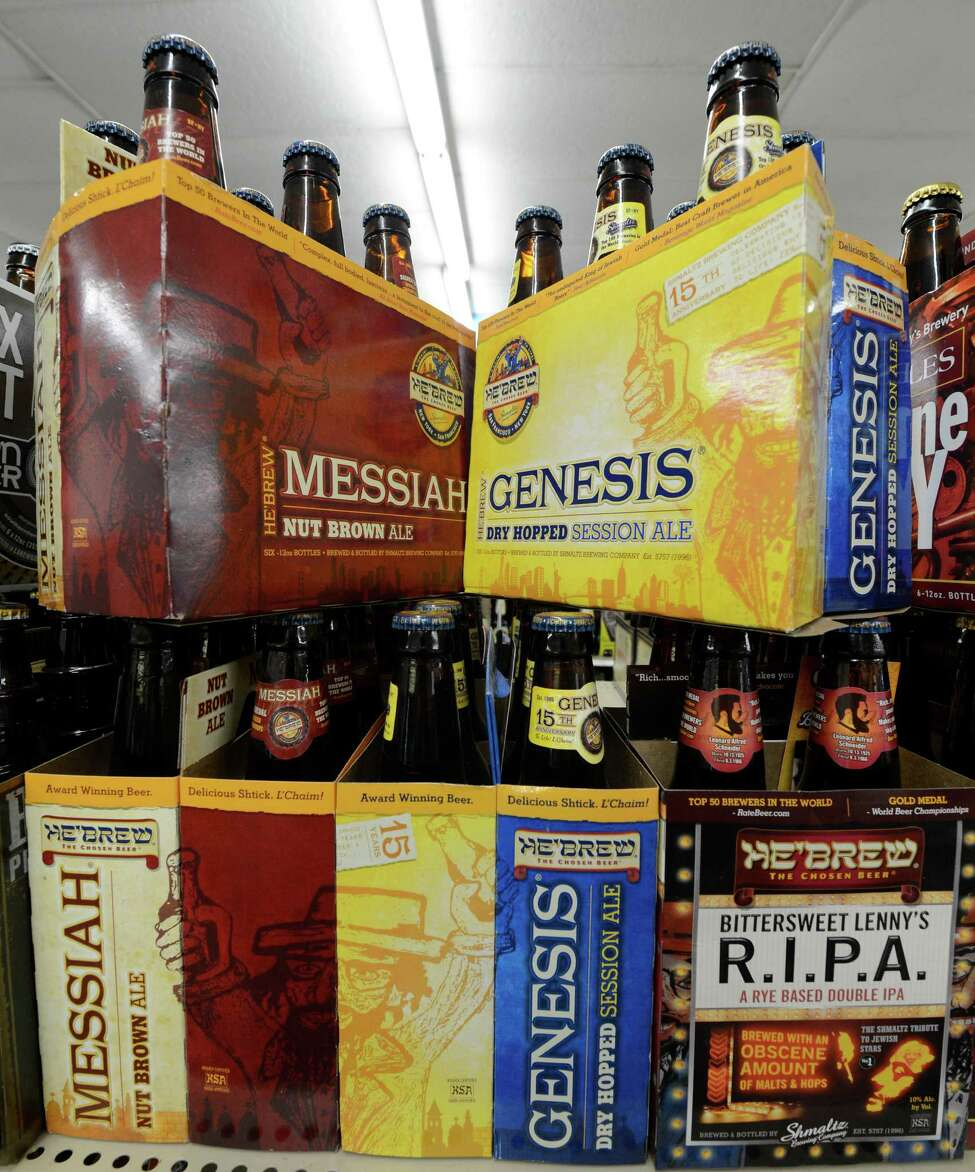 Schmaltz Beer Company brands on the shelves at the EBI Beverage Company March 26, 2013 in Saratoga Springs, N.Y. (Skip Dickstein/Times Union)