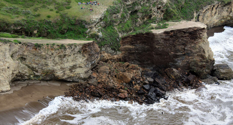 A rockslide at Arch Rock within Point Reyes National Seashore killed one hiker and severely injured another last weekend. Photo: Associated Press / National Park Service, Point Rey