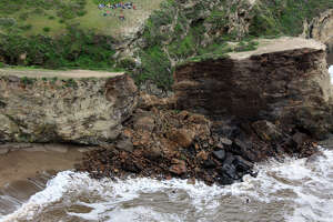 Cliff collapse shows it's best to heed nature's warnings - Photo