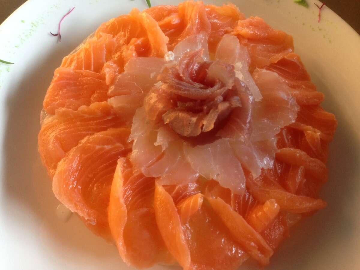 Composed sliced fish selection at Peska Seafood Culture. (Photo: Greg Morago)
