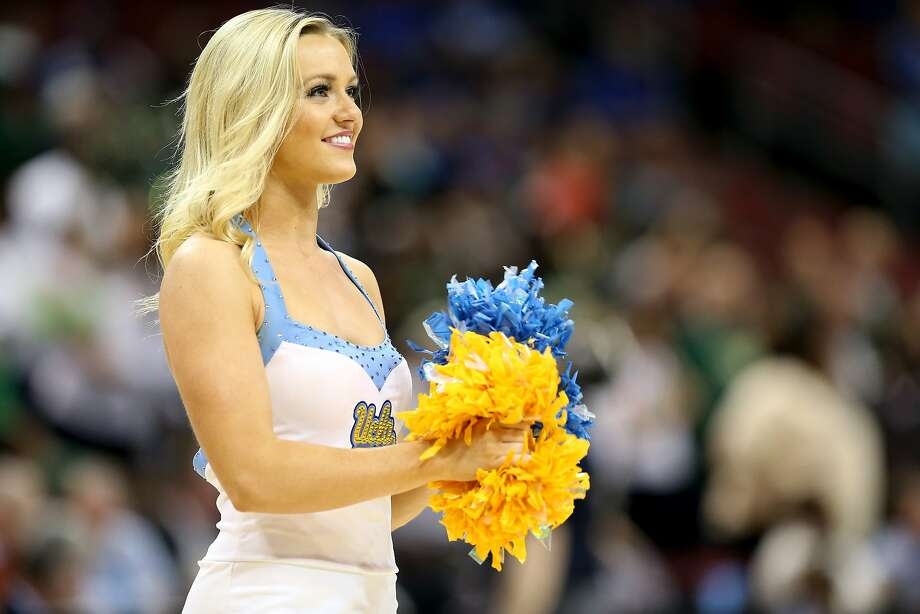 A cheerleader for the UCLA Bruins in action against the UAB Blazers during the third round of the 2015 NCAA Men's Basketball Tournament at KFC YUM! Center on March 21, 2015 in Louisville, Kentucky.  Photo: Andy Lyons, Getty Images
