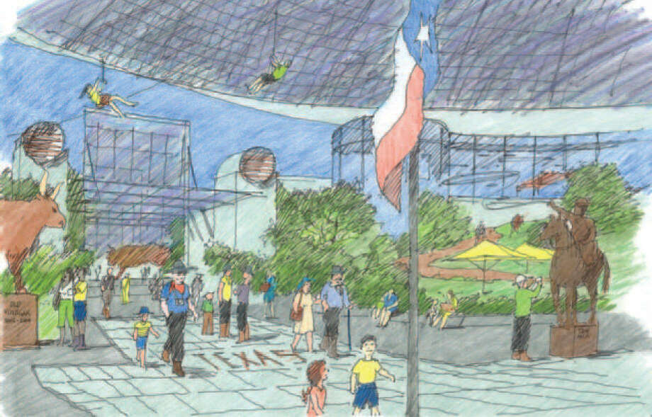 The Urban Land Institute released its final report on the future of the Astrodome, which included this rendering of what the facility could look like. Photo: Urban Land Institute