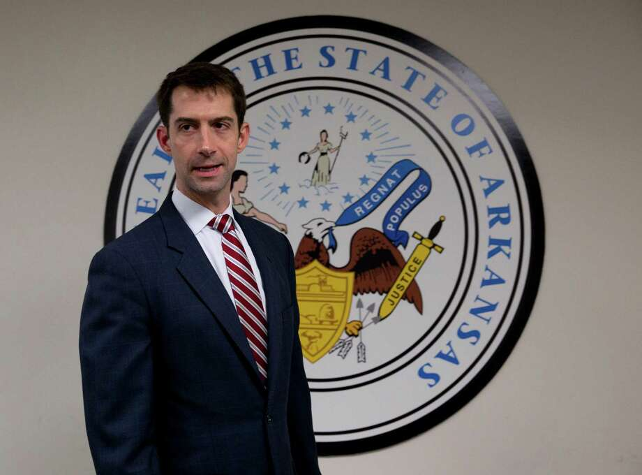 """Sen. Tom Cotton, R-Ark., is calling for U.S. """"global military domiance."""" Don't we already have more military might than any nation the world? Photo: Carolyn Kaster /Associated Press / AP"""